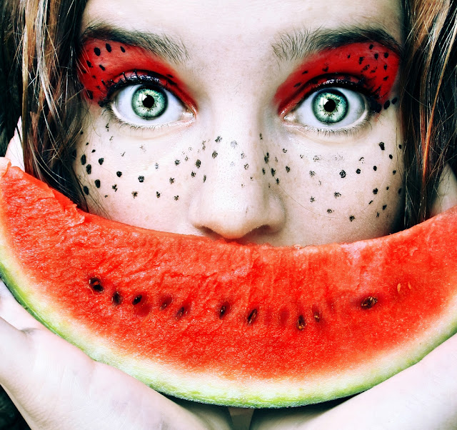 fruity self portrait by Christina Otero