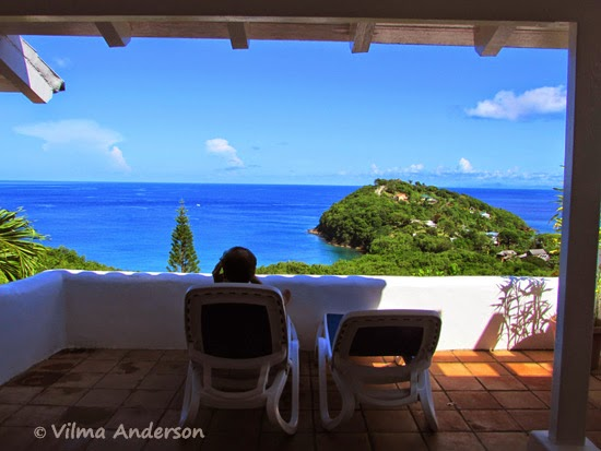 View of the ocean from a villa at the Windjammer Landing, St. Lucia