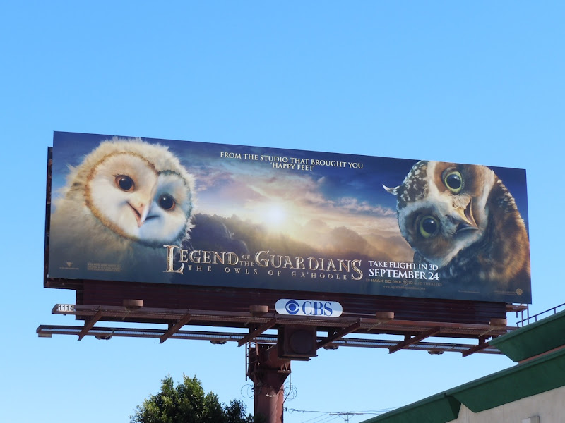 Legend of the Guardians billboard