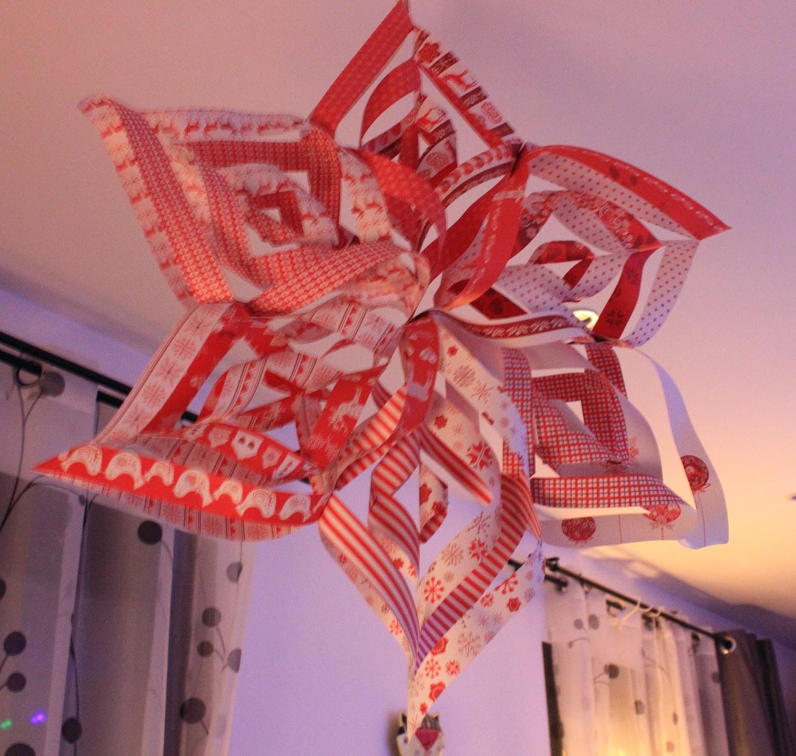 Coquillette coquette diy de noel 1 un joli flocon de neige en 3d en papier - Flocon de neige en papier origami ...
