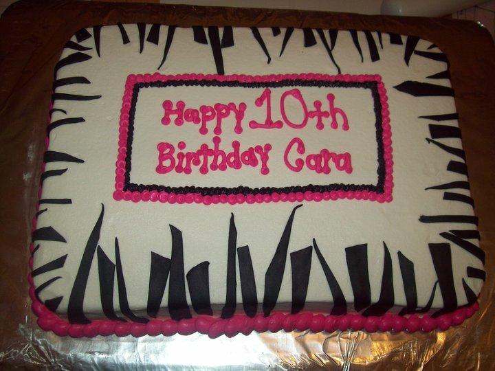 Bb Cakes Zebra Stripes Birthday Cake