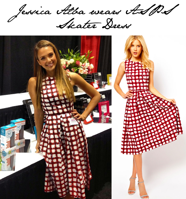 Jessica Alba steps out in ASOS Midi Dress