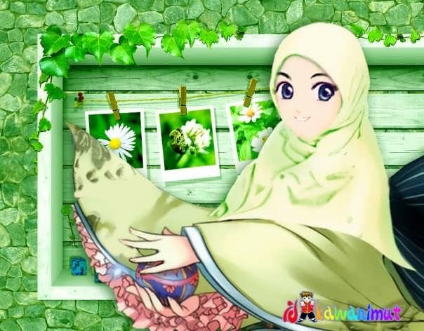 macam macam kartun: kartun gamabr muslimah dan muslim