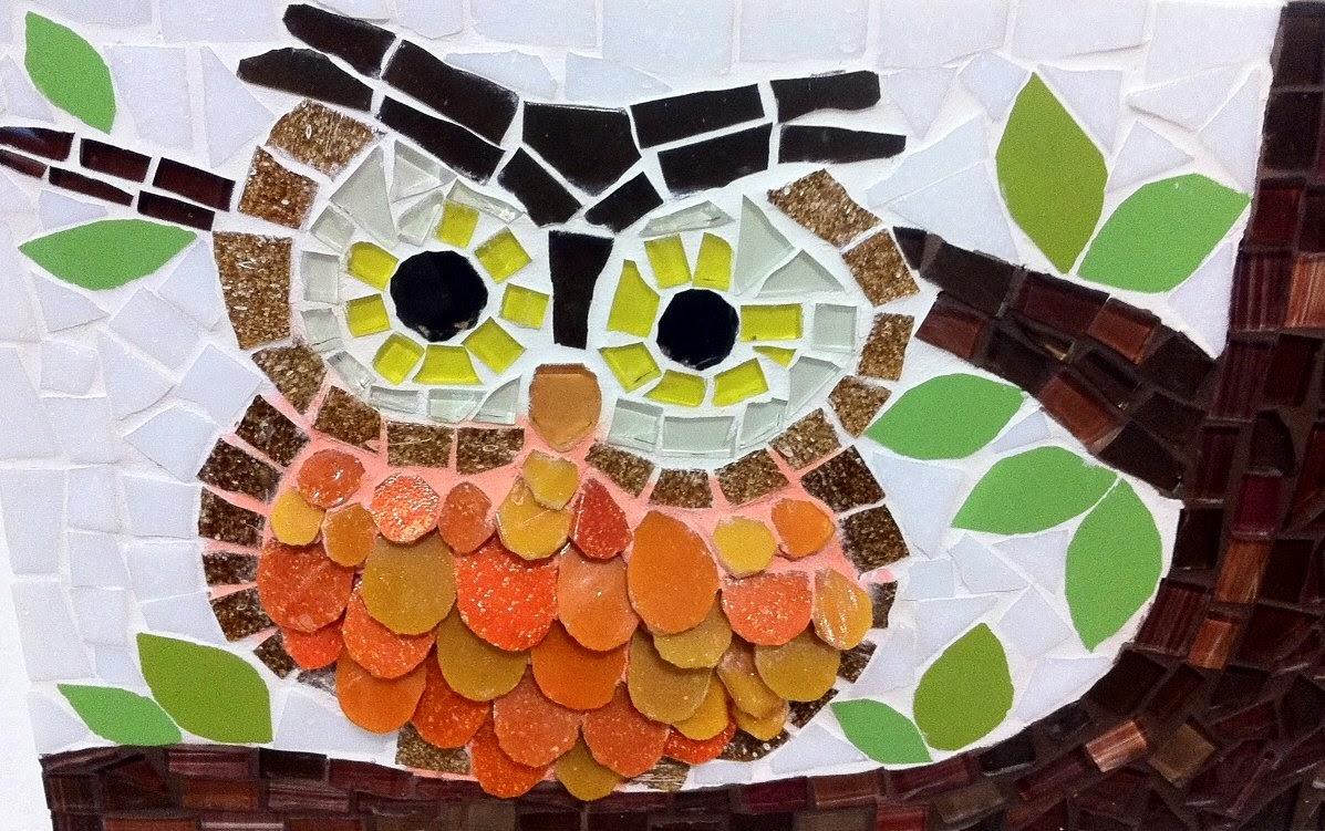 Mosaico de Coruja em 3D