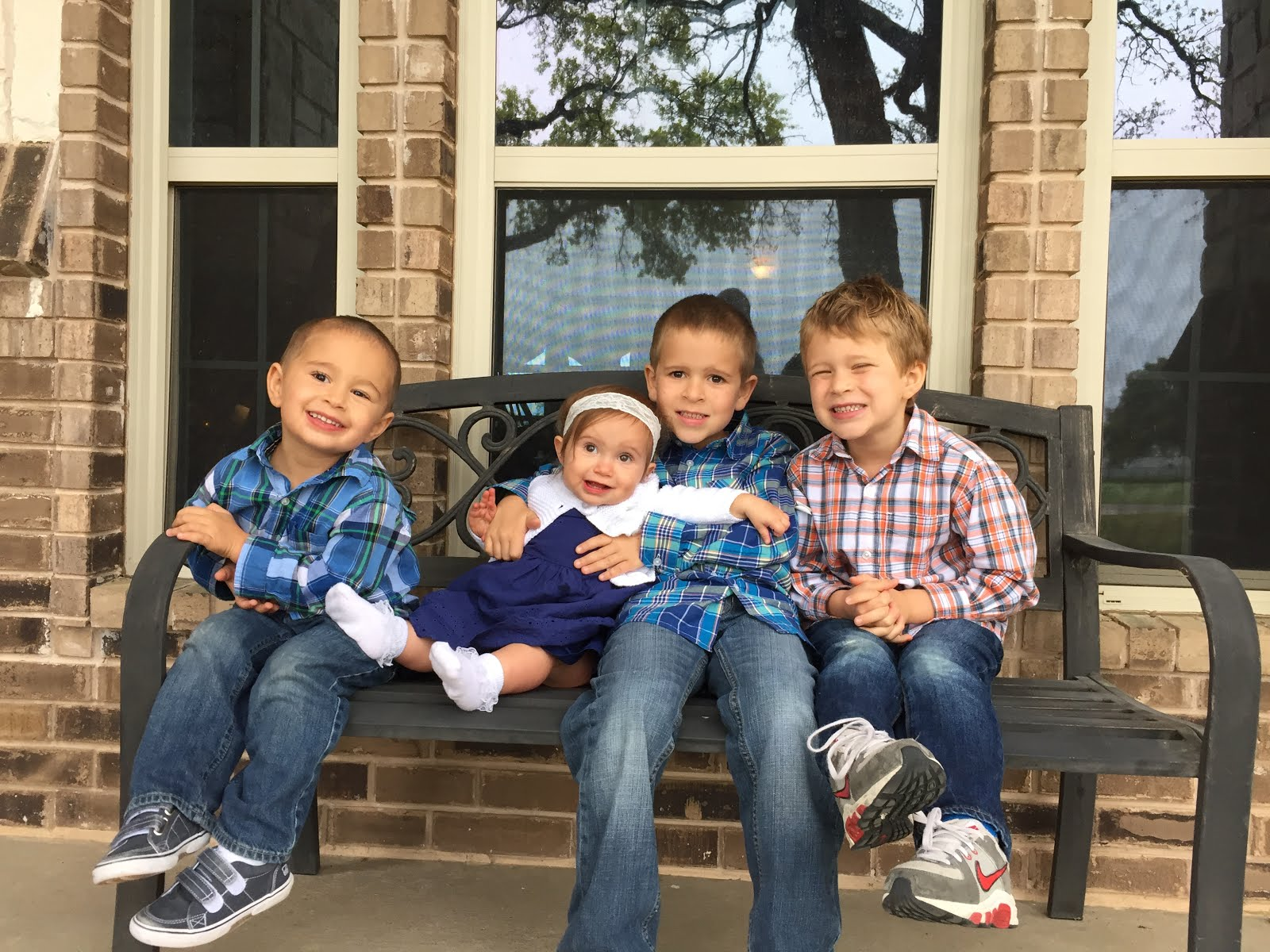Weston 7, Caleb 5, Tyson 3, Lucy 1