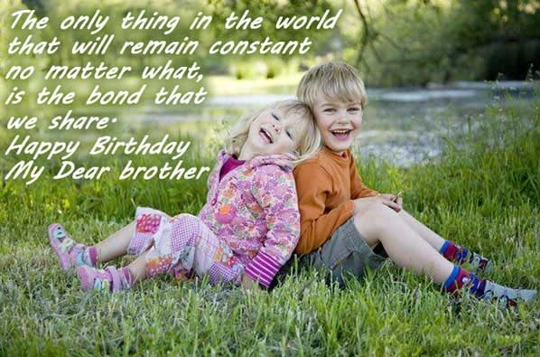 Cute birthday quotes for big brother : Cute happy birthday quotes wishes for brother this