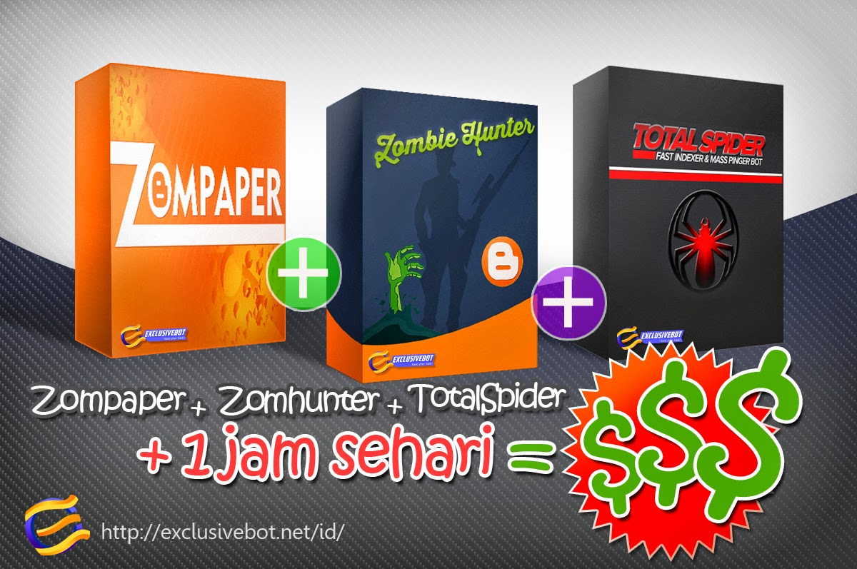 Zombie Hunter Zombie Paper Total Spider