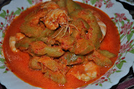 Udang Masak Lemak Peria