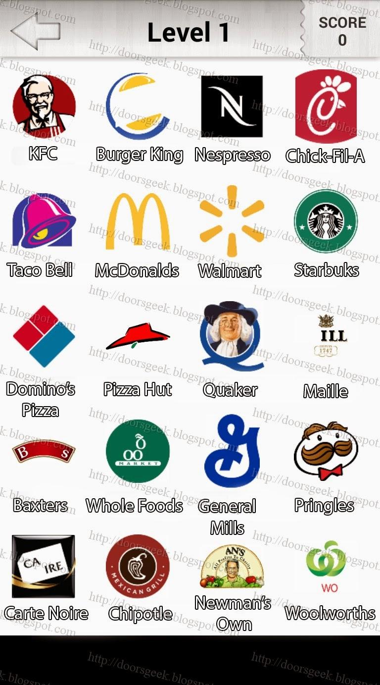 logo quiz food level 1 by quotcandy logoquot doors geek