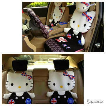 Cover jok mobil hello kitty