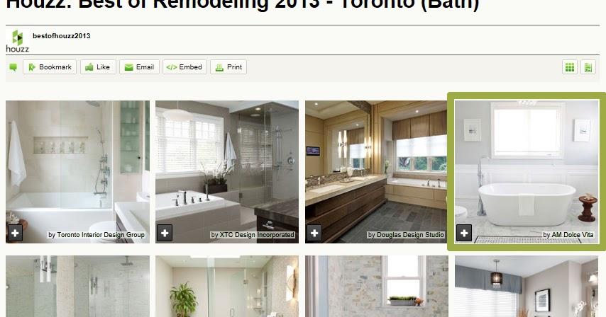 Am dolce vita best of houzz toronto 2013 awards for Bathroom design awards 2013
