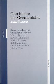"""Bild: Cover der Zeitschrift """"Geschichte der Germanistik"""""""
