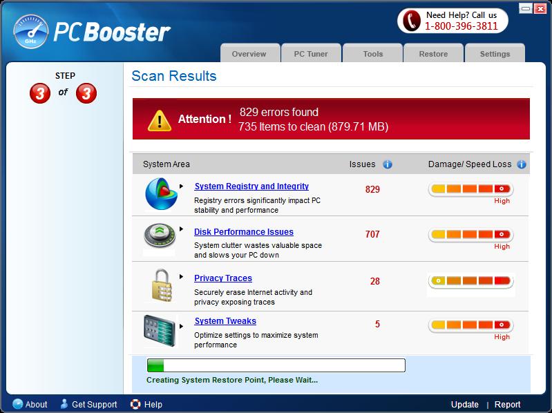 pcbooster-repairing-errors
