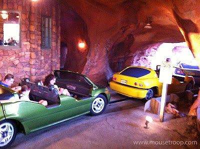 Radiator Springs Racers leave station