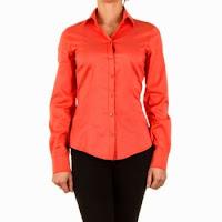 Camasa eleganta, de culoare portocalie, cambrata pe talie ( )