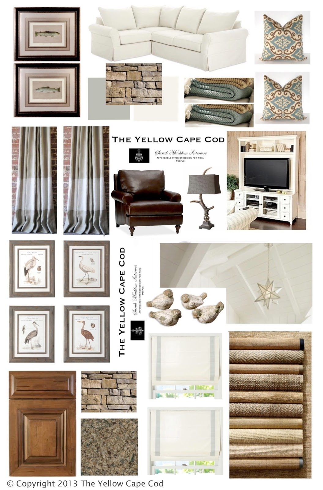 The Yellow Cape Cod Rustic Chic Nature Inspired Lake Cottage