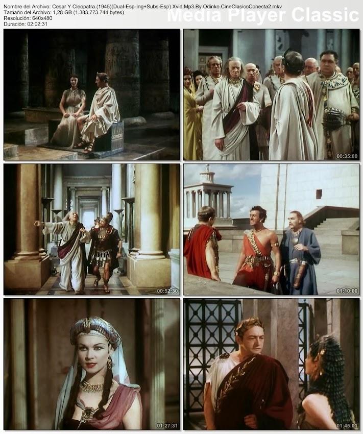 César y Cleopatra | 1945 | Caesar and Cleopatra | Secuencias de la película