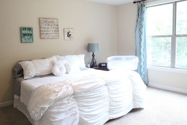 White Master Bedding