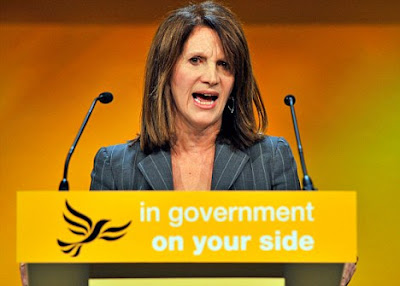 Lynne Featherstone, Anti male Bigot and feminist promoter.
