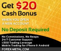 20USD Forex no deposit bonus from Forex-Metal