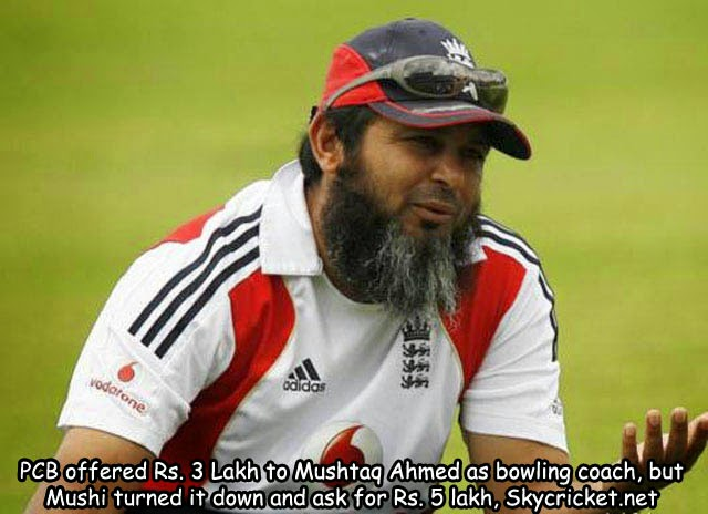 PCB offered Mushtaq 3 Lakh as bowling coach of national academy