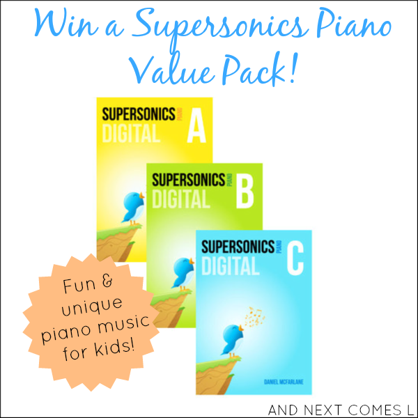 Perfect gift for your piano teacher! Enter to win a Supersonics Piano Value Pack worth $150 from And Next Comes L
