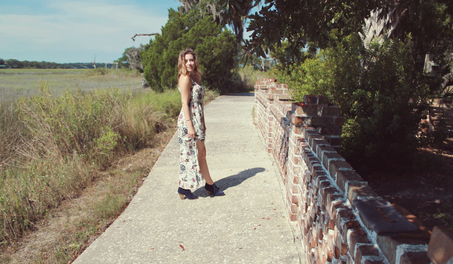 Boone+Owl Floral and Cobalt, floral maxi dress, sole society booties, cobalt booties, maxi dresses, sole society, tassels, maxi dress and booties, blogger fashion, outfit of the day, what i wore, boone and owl