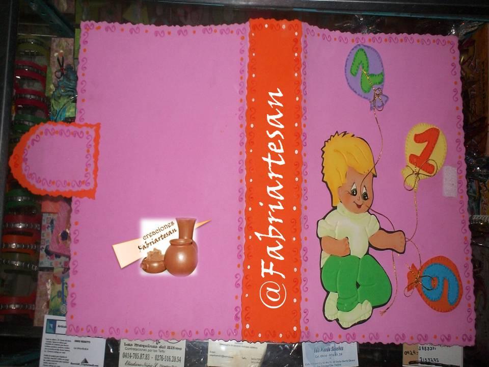Carpeta portafolio en foami - Imagui