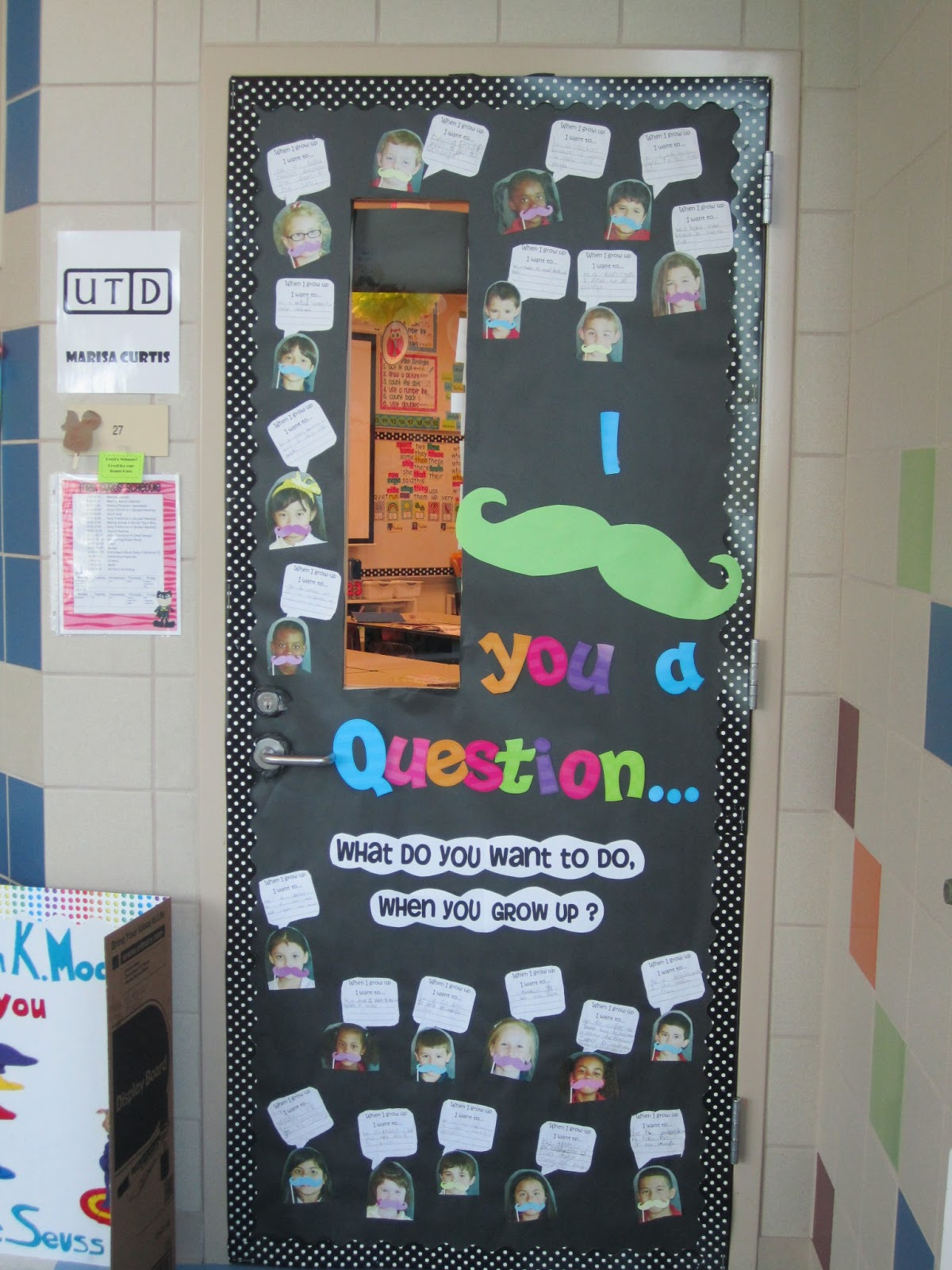 Mustache Classroom Decor ~ First grade glitter and giggles i quot mustache you a