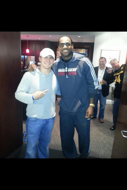 Johnny Manziel, Lebron James, and a demon-eyed Longhorn fan.