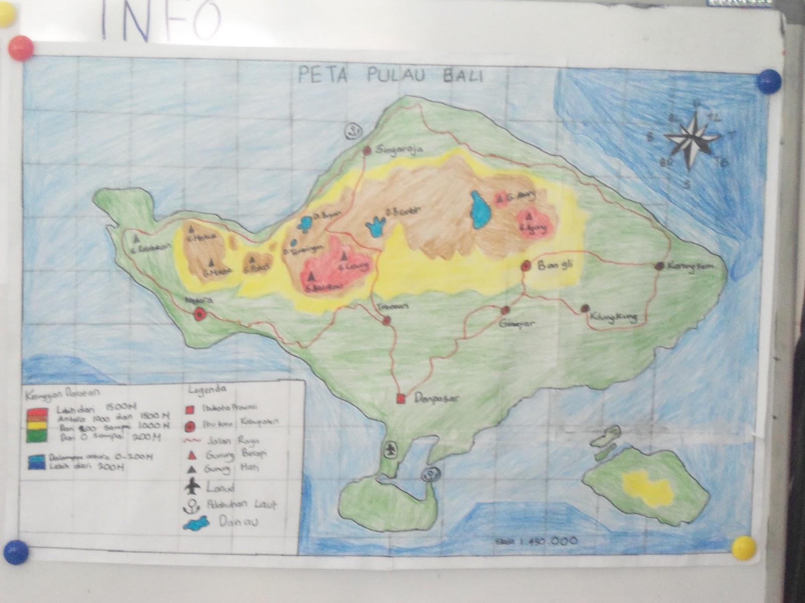 Peta Disuruh Membuat Pulau Bali Menurut Guru Mudah Digambar Diharuskan