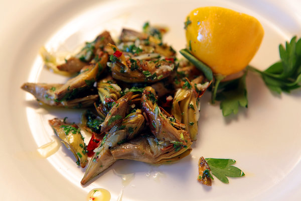 The Recipe File: Pan-Roasted Baby Artichokes