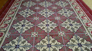 Using a grout release or pre-sealer on cement tiles helps insure a successful installation