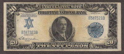 United States Philippines currency 20 Peso banknote Congressman William Jones