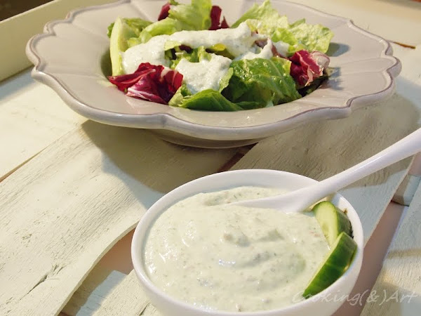 Dressing με μπέϊκον & cottage / Creamy Bacon Salad Dressing