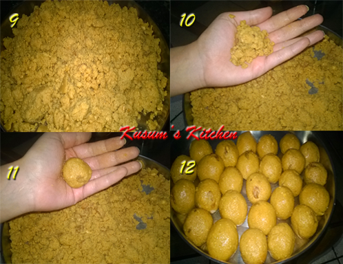 how to make besan ladoo in telugu