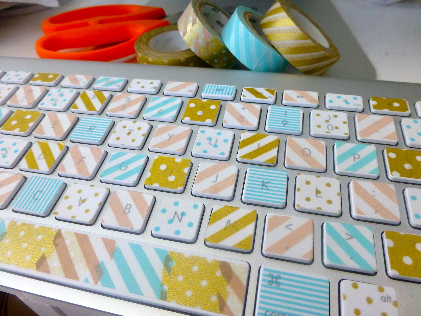 Twine and tape washi tape keyboard - Washi tape ideen ...