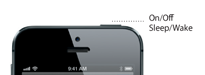 iPhone 5 sleep/wake button