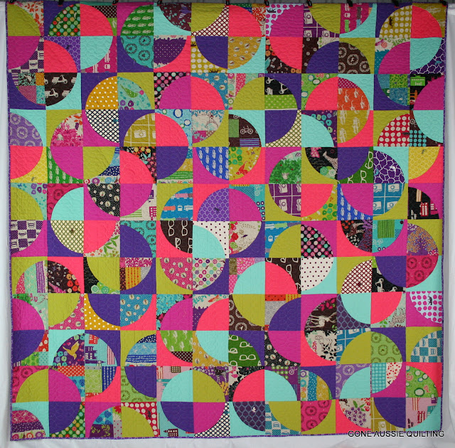 Gone Aussie Quilting: Drunkard s Path Echino Finish!
