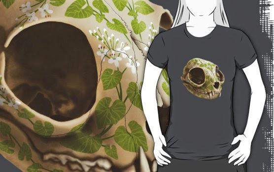 cat skull tshirt