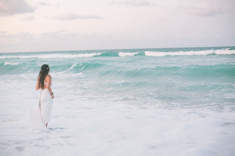 jupiter florida beach trash the dress photo