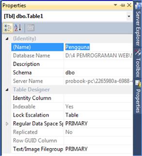 Table Properties Toolbar