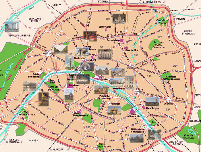 Paris Map Travel Diaries and Useful Tips – Travel Map of Paris