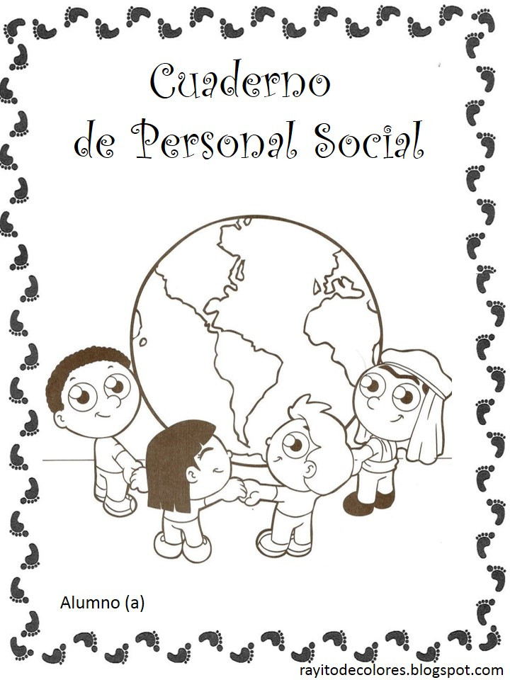 carátula escolar para personal social