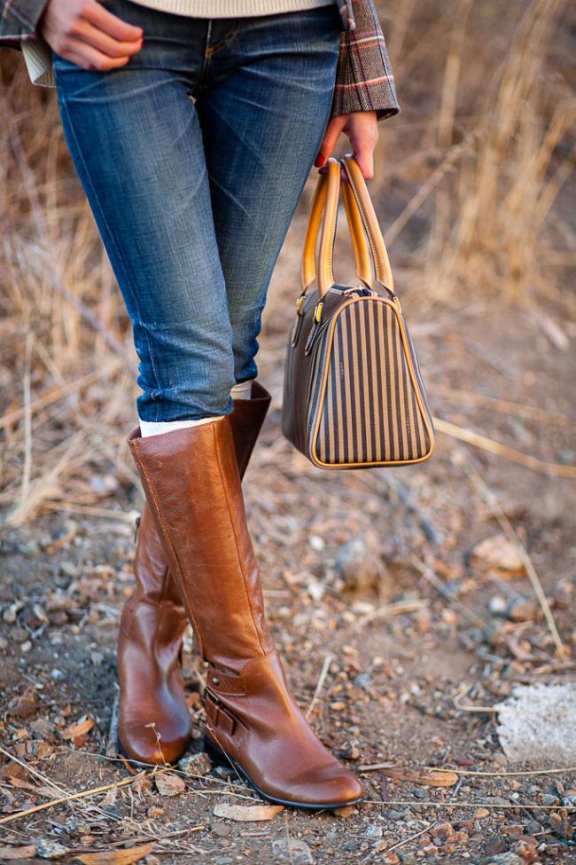 flat riding boots brown tan