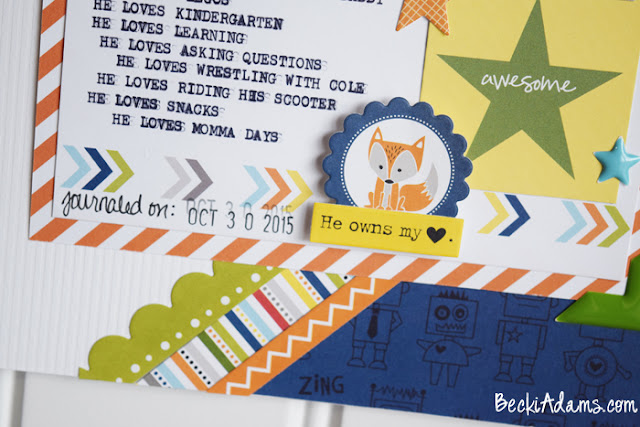 Scrapbooking children's Favorites #scrapbooking #Papercrafting #BellaBlvd #beckiadams