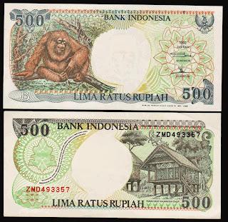 Pecahan 500 Rupiah emisi 1992
