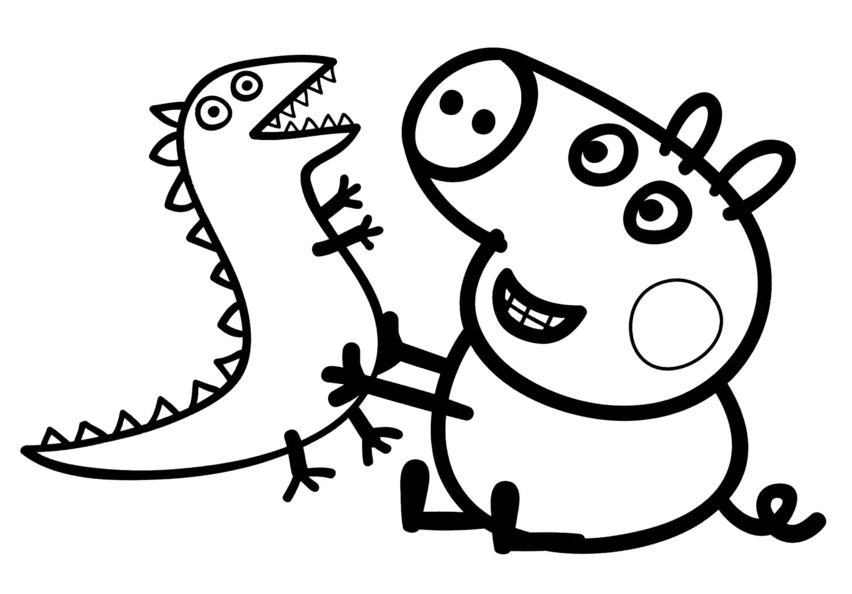 Blog Peppa Pig: Dibujos de George Pig para imprimir y colorear