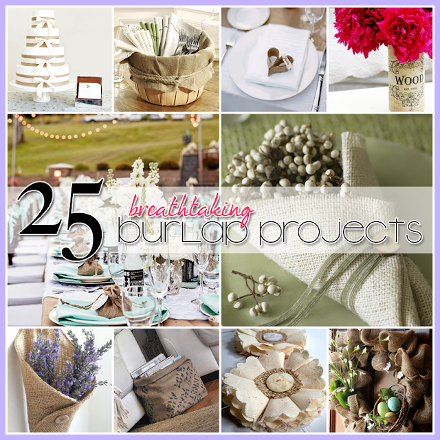 DIY, burlap, the cottage market