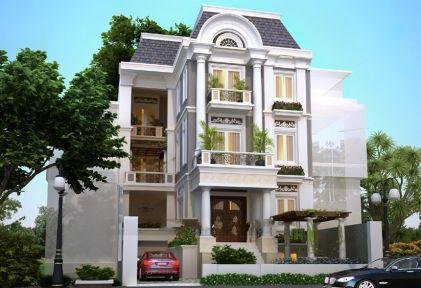 Những mẫu thiết kế biệt thự 2 tầng đẹp sang trọng hiện đại